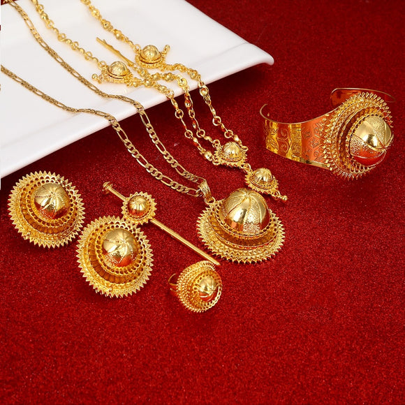 Ethiopian Eritrean Habesha 6pc Jewelry Set
