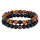 2pcs/set 7 Style Couples Distance Bracelet Natural Stone Yoga Beaded Bracelet Unisex