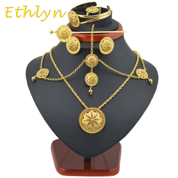 Ethiopian Eritrean Habesha Jewelry Set 6pcs sets