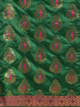 Load image into Gallery viewer, Green Elegant Meena Work Katan Silk Saree