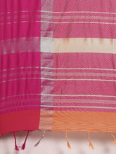 Load image into Gallery viewer, Orange And Pink Stylish Linen Dual Tone Saree
