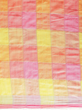 Load image into Gallery viewer, Peach Attractive Linen Ikat Checkered Saree