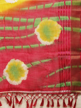 Load image into Gallery viewer, Yellow Kota Silk Bandhani Saree