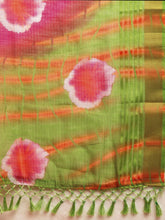 Load image into Gallery viewer, Pink Kota Silk Bandhani Saree