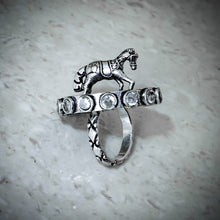 Load image into Gallery viewer, Oxidised Horse Ring