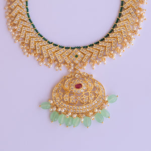 Gold Plated Traditional Ethnic Necklace Set