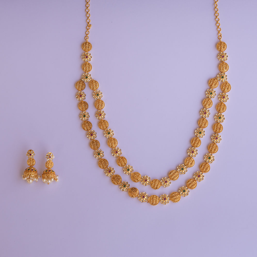 Traditional Long Ramparivaaram Necklace Set