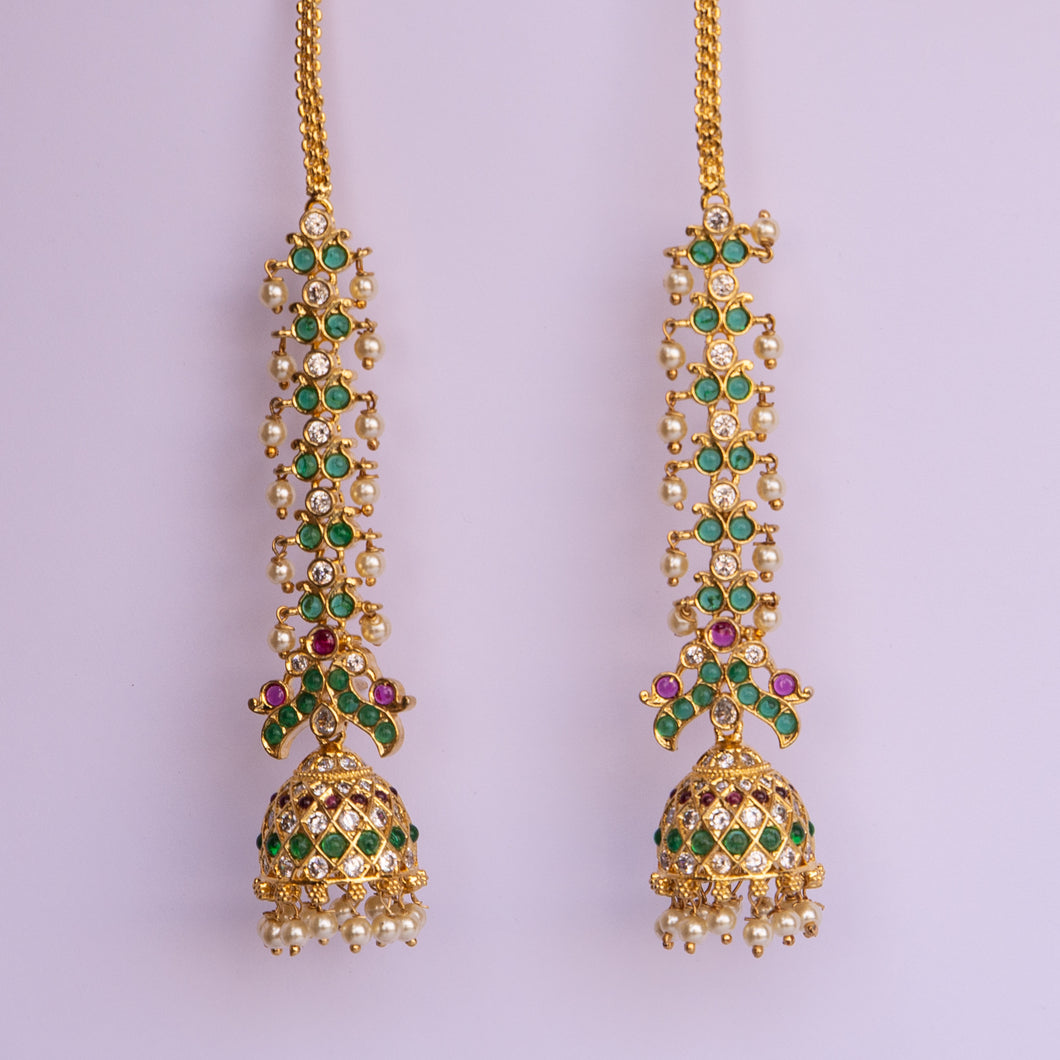 Emerald Green Full Length Jhumki
