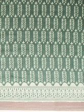 Load image into Gallery viewer, Green Beautiful Bagru Block Print Linen Chanderi Handloom Saree