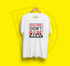 Real Men Don't Rape - Women's Tee - White