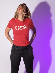 FASAK - Women's Tee - Red