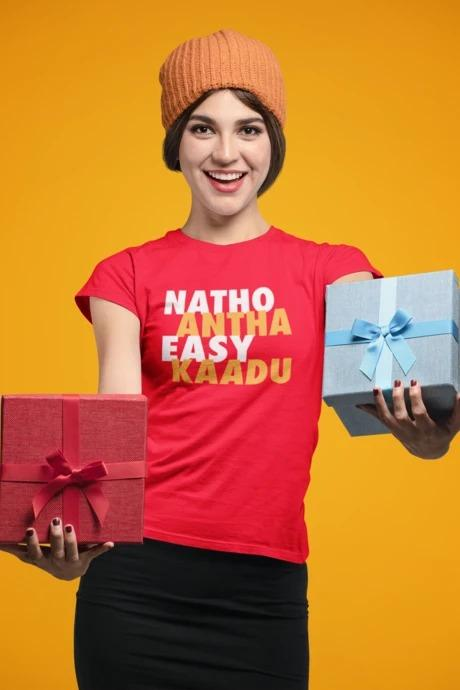 Natho Antha Easy Kadu - Women's Tee - Red