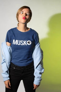 MUSKO - Women's Tee - Navy Blue