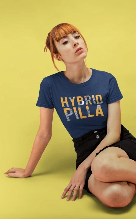 Hybrid Pilla - Women's Tee - Navy Blue
