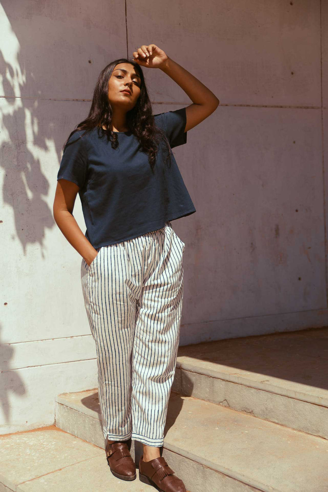 Blue Stripe Pants