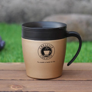 Stainless Steel Insulated Coffee Cup With Handle