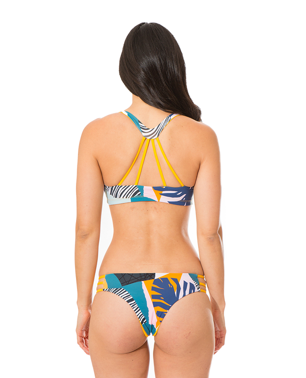 Colleen Eco Friendly Reversible Bikini Top - Fun In The Sun/Tropicana