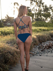 Lindsy Eco Friendly Stay Put Moderate Bikini Bottom - Deep