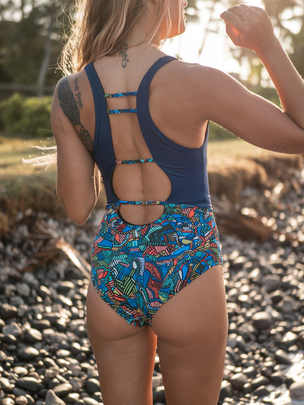 Eleanor Eco Friendly One Piece - Deep/Stained Glass