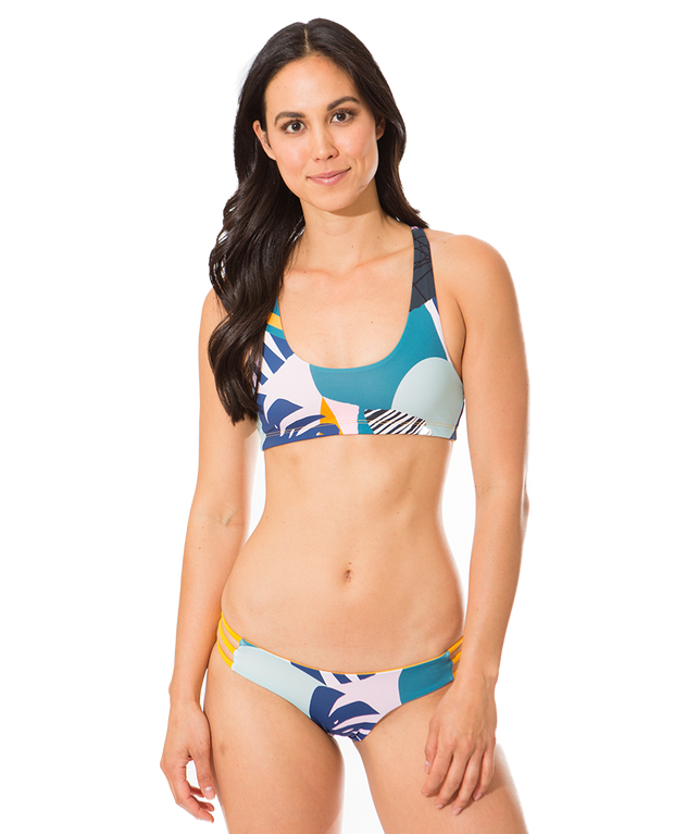 Kyla Eco Friendly Cheeky Reversible Bikini Bottom - Fun In The Sun/Tropicana