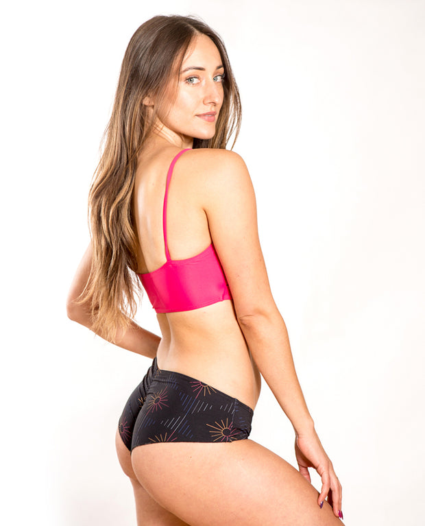 Nika Dance x Swim top- Hot Pink