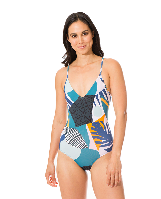 Olivia Eco Friendly Strap Back Classic One Piece - Tropicana