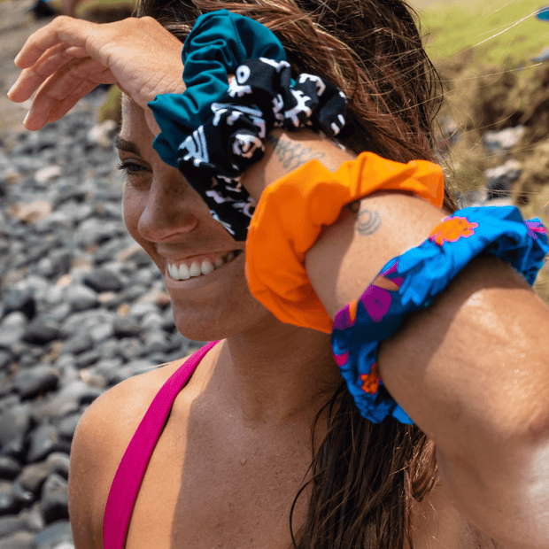 Sensi Graves Bikinis Accessories Recycled Scrunchie-Cabana