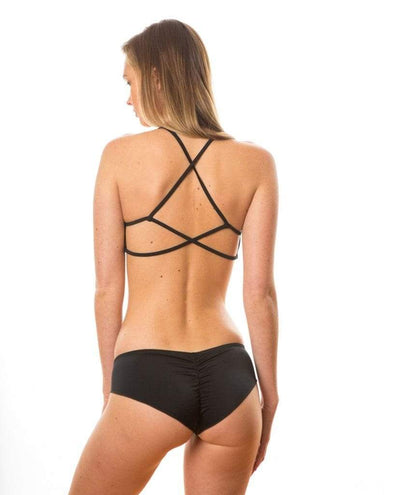 Sensi Graves Bikinis Bikini Bottom Cheeky Black / x-small Jennifer Eco Friendly Cheeky Bikini Bottom - Black