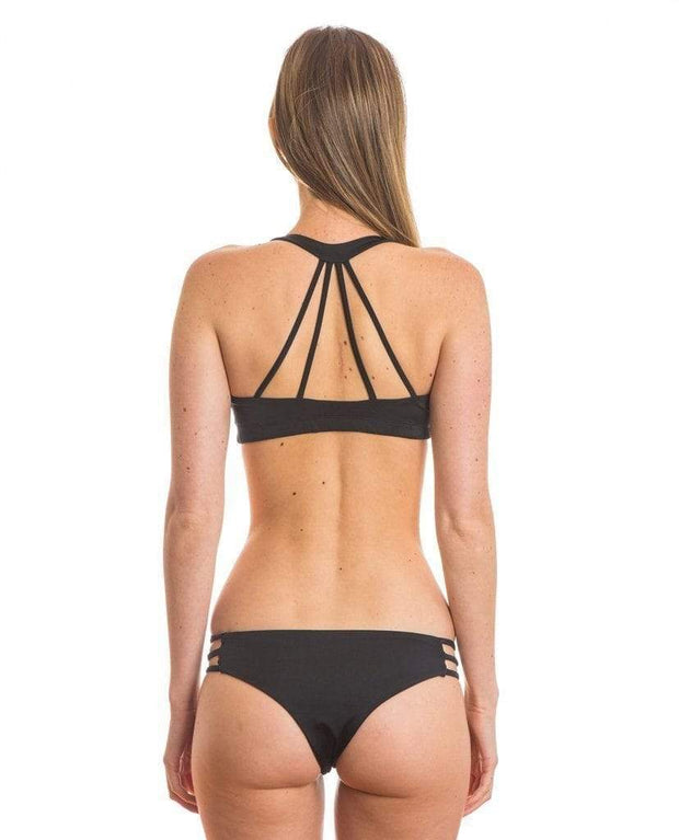 Sensi Graves Bikinis Bikini Bottom Cheeky Black / x-small Kyla Eco Friendly Cheeky Reversible Bikini Bottom - Black