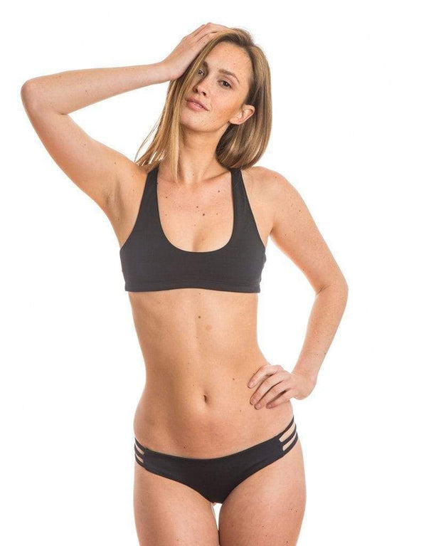 Sensi Graves Bikinis Bikini Bottom Cheeky Kyla Eco Friendly Cheeky Reversible Bikini Bottom - Black