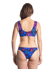 Sensi Graves Bikinis Bikini Bottom Cheeky Bloom/Deep / x-small Tori Eco Friendly Reversible Skimpy Bikini Bottom - Bloom/Deep