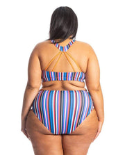 Sensi Graves Bikinis Bikini Bottom Full Coverage Nika Eco Friendly High Waisted Bikini Bottom - Cabana