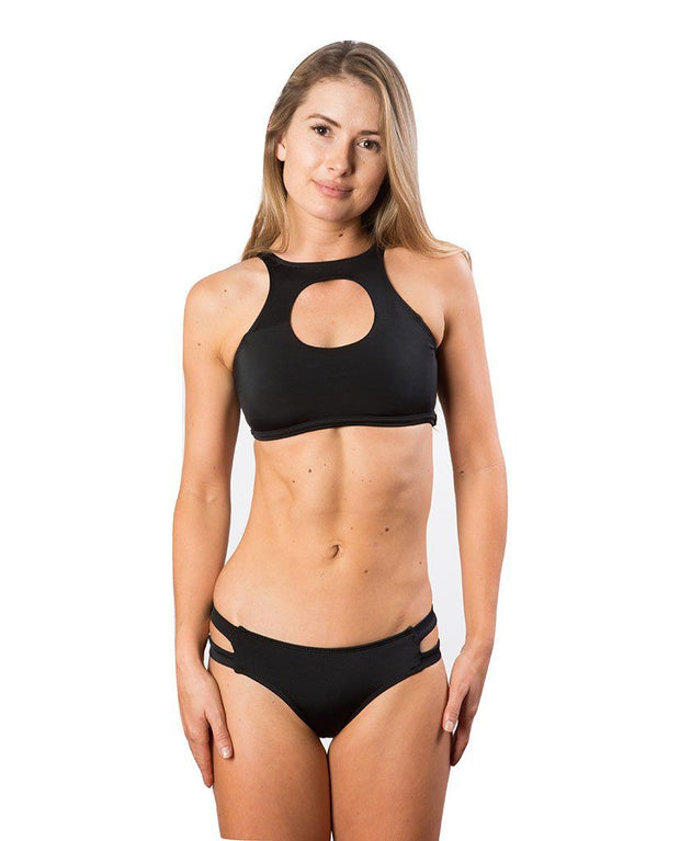 Sensi Graves Bikinis Bikini Top Cutout Black / small Katie Cut Out Bikini Top - Black