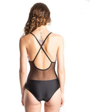 Emily Eco Friendly Mesh Back Classic One Piece - Black