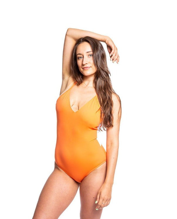 Emily Eco Friendly Mesh Back Classic One Piece - Flame