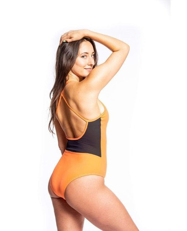 Sensi Graves Bikinis One Piece Emily Eco Friendly Mesh Back Classic One Piece - Flame