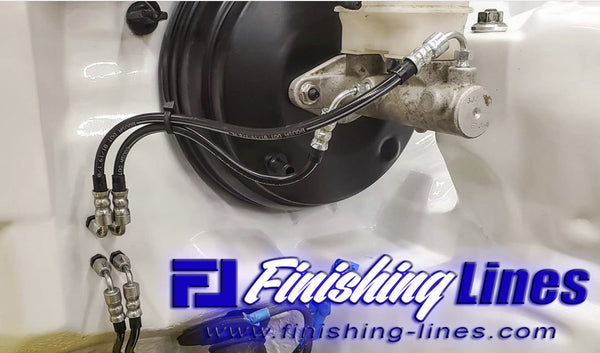 DC Finishing Lines Full Tuck Brake Line Kit - Stock Master Cylinder Setup