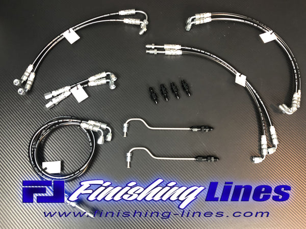 EG Full Tuck Brake Line Kit (stock master cylinder setup)