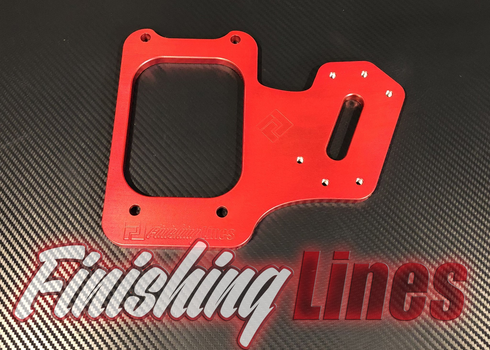 B/D Series Staging Brake Mounting Plate - Candy Red (Limited Edition)