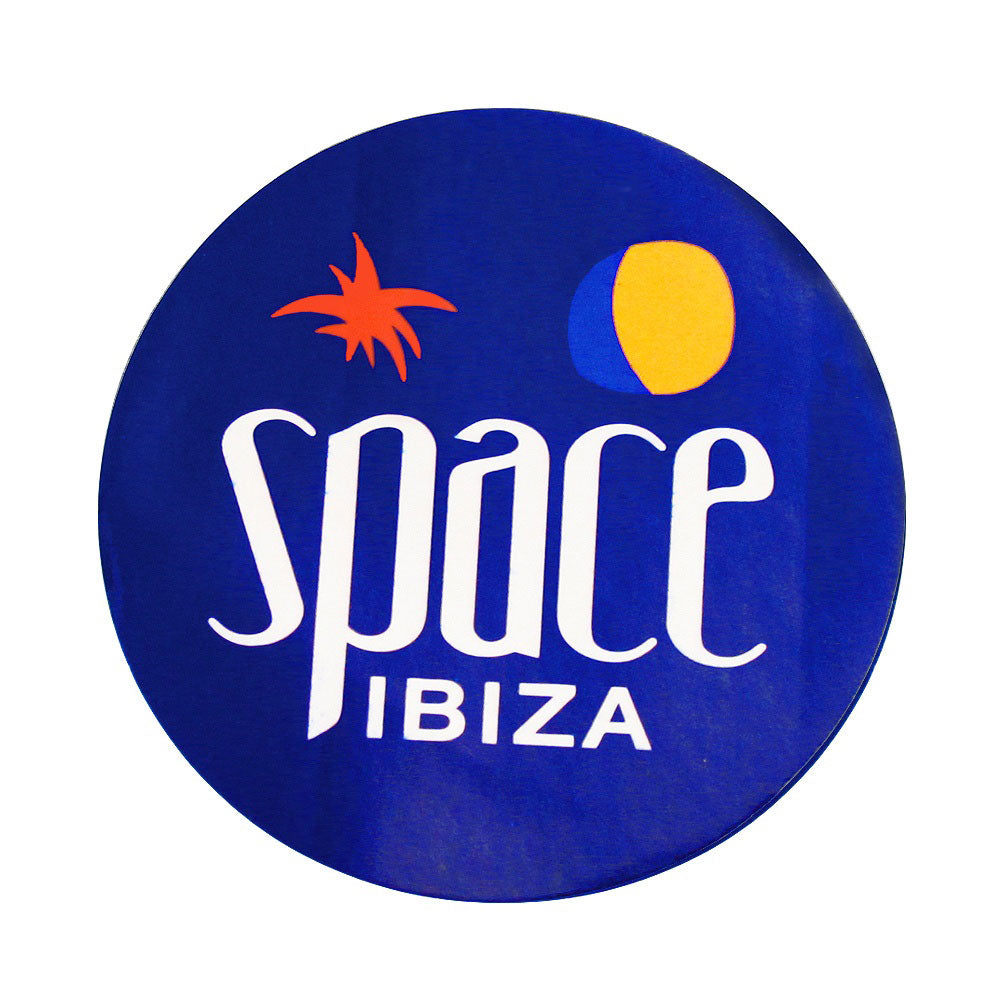 Space Ibiza Large New Logo Blue Sticker