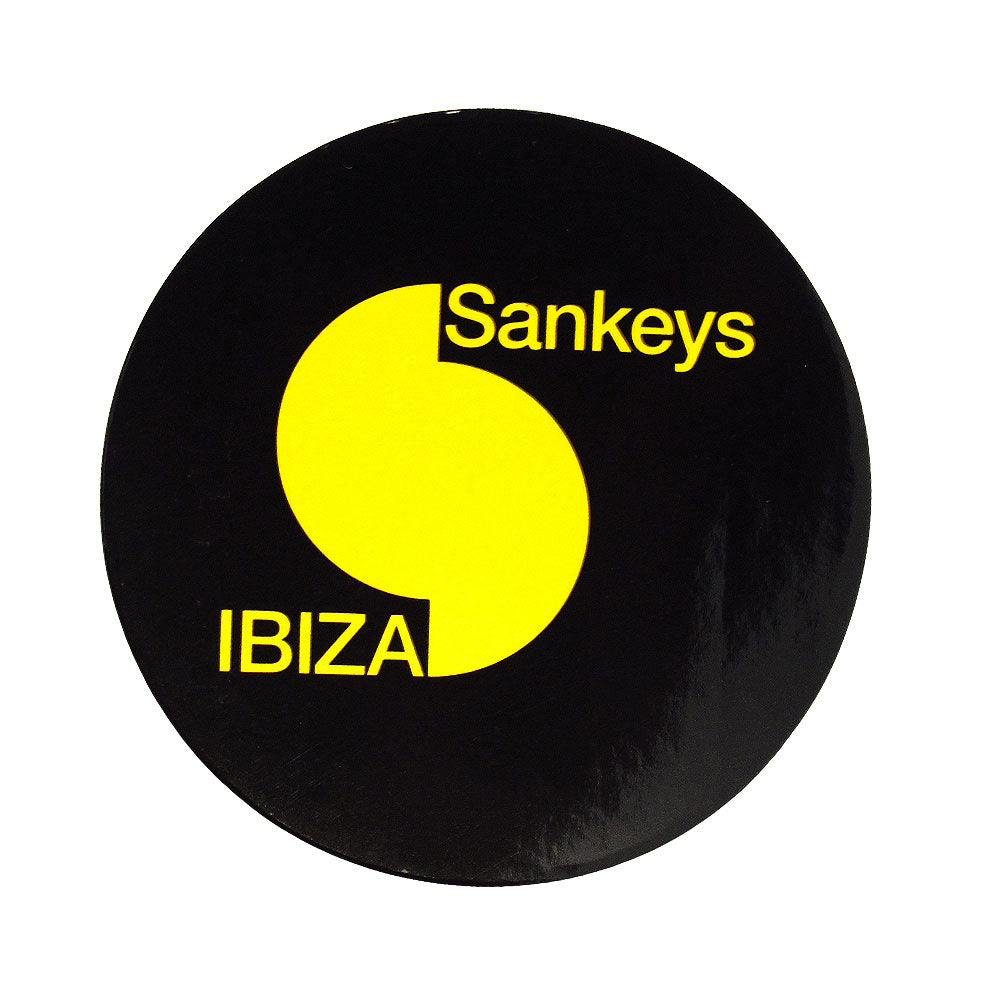 Sankeys Ibiza Black Large Logo Sticker