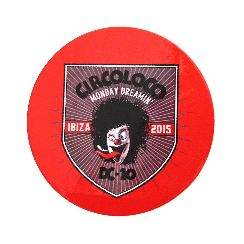 Circo Loco Ibiza Autocollant Monday Dreamin' 2015 Clown