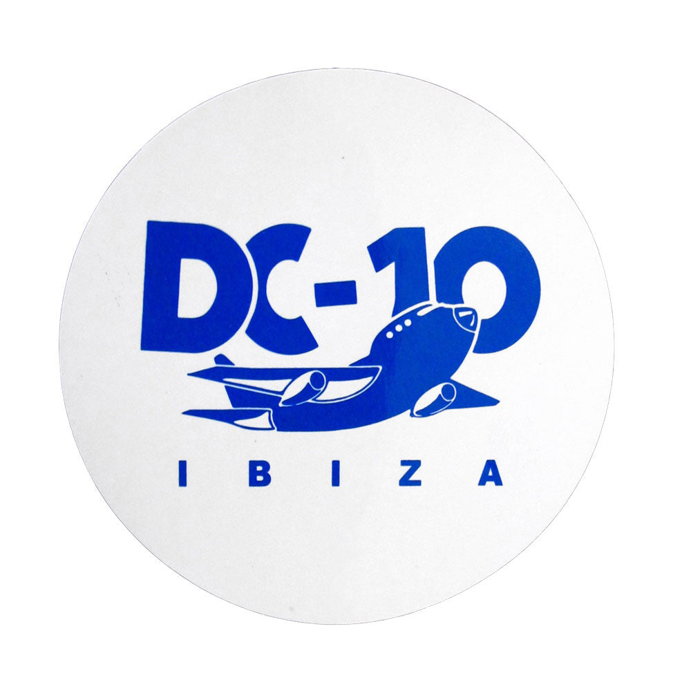 DC10 Ibiza: Large Airplane Logo Sticker