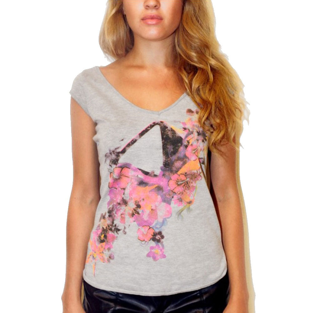 Amnesia Ibiza Flowers Women's V-Neck T-shirt