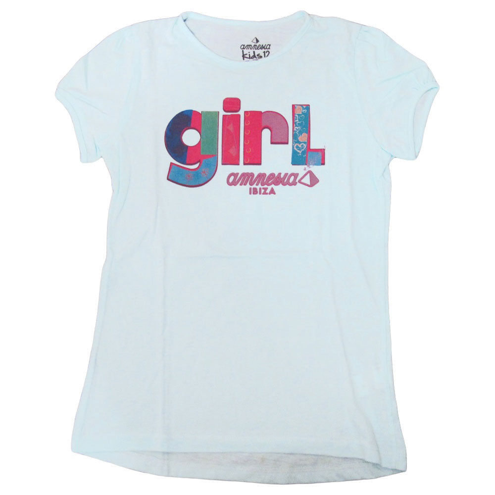 Amnesia Ibiza Patchwork Girl Kids Blue T-shirt