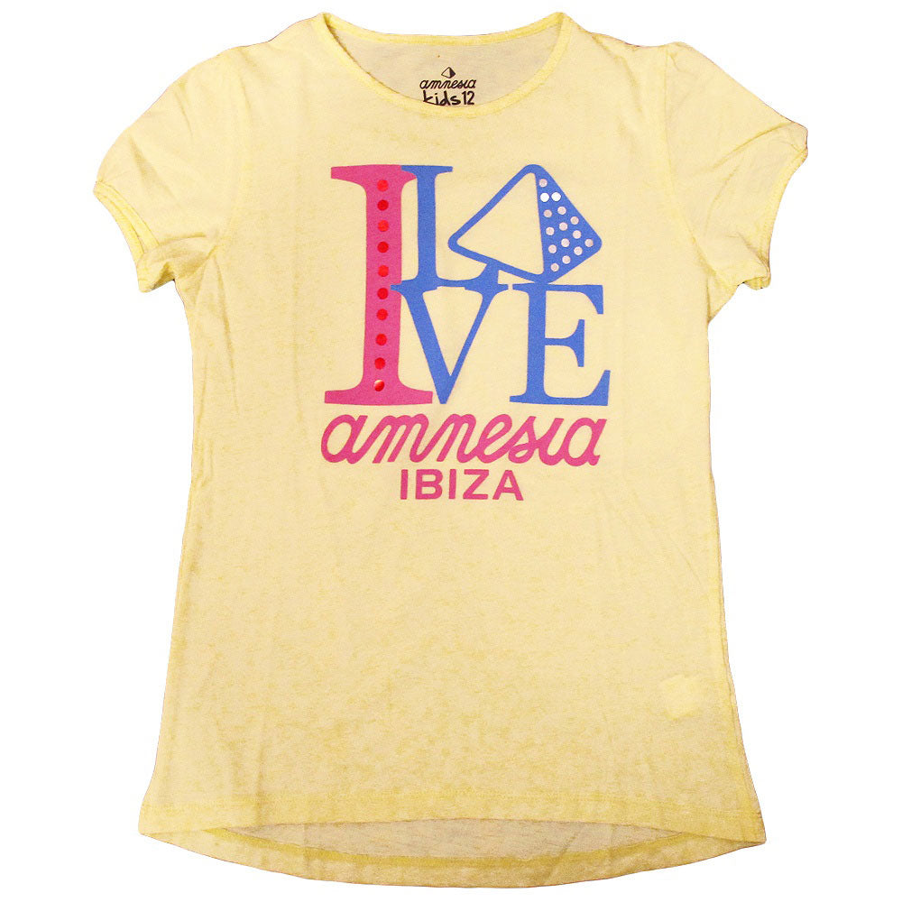 Amnesia Ibiza I Love Amnesia Kids Girls T-shirt