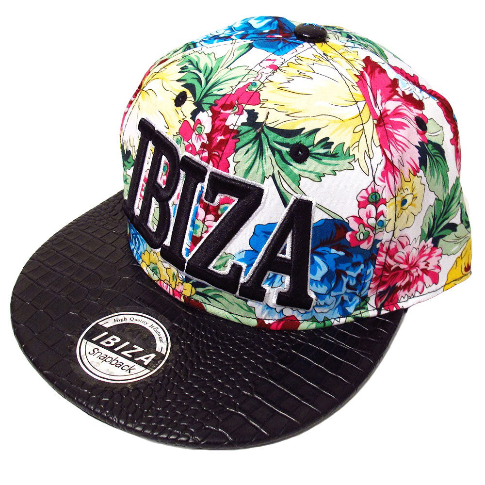 Ibiza Tropical Flowers Snapback Cap