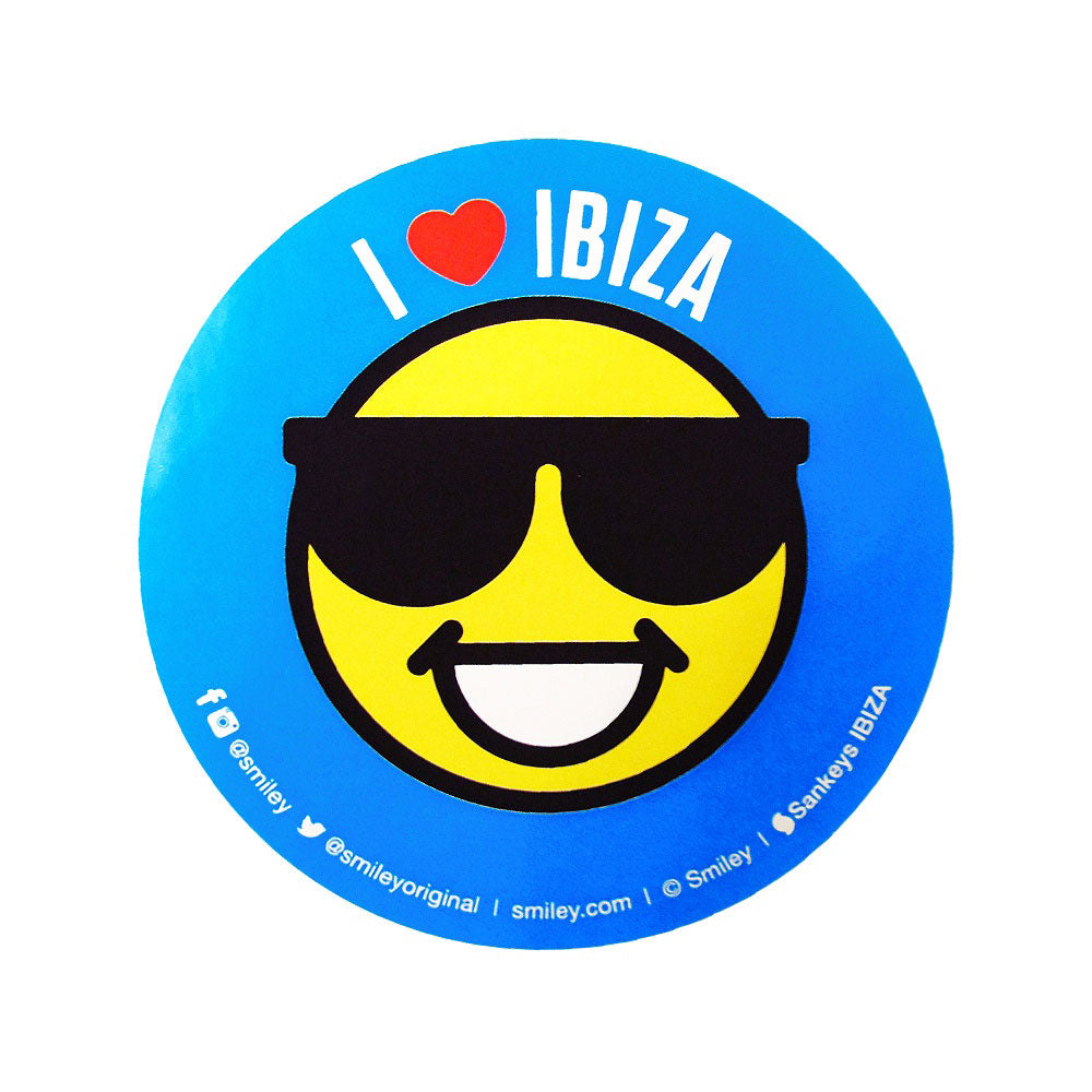 Sankeys Ibiza Autocollant Cool Smiley