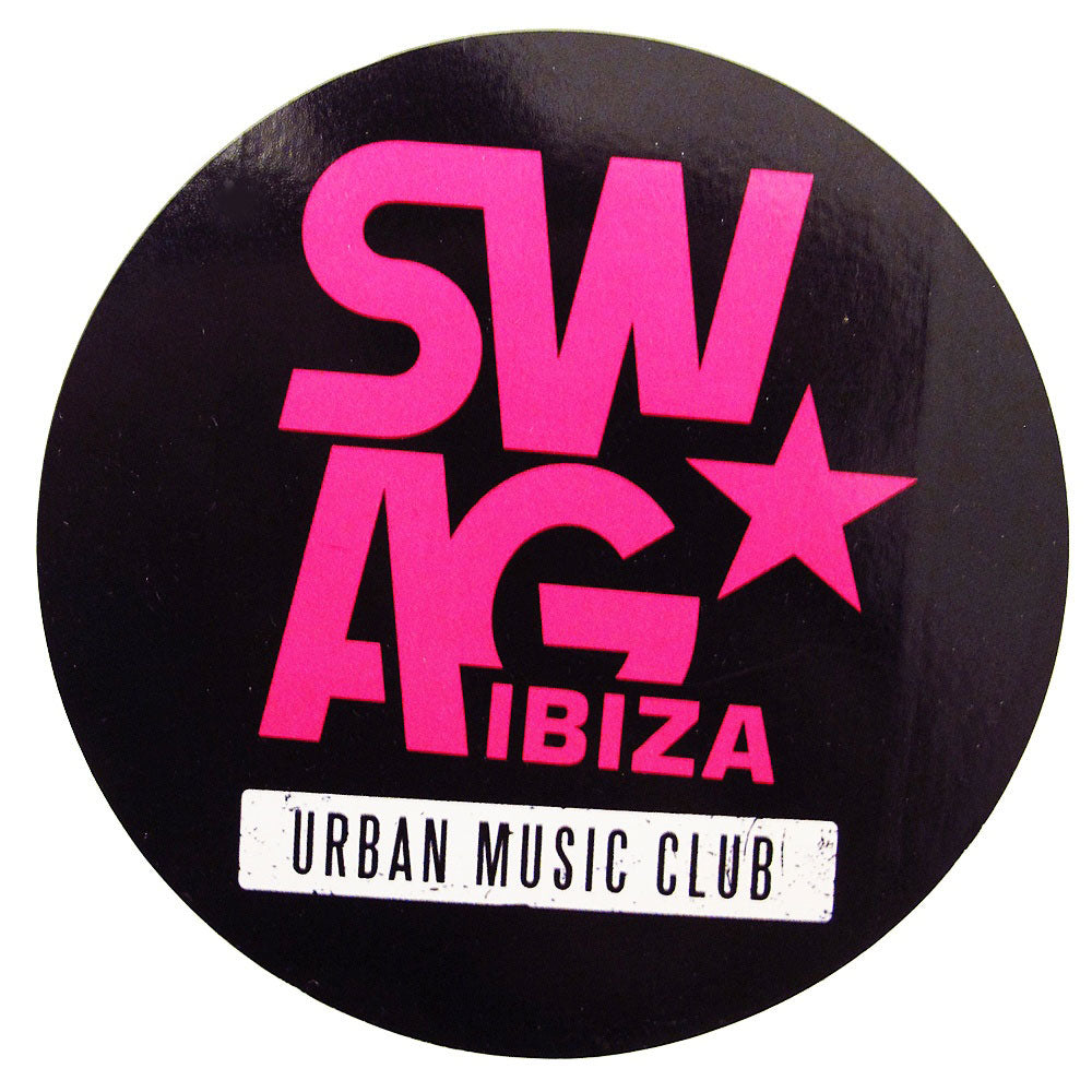 Swag Ibiza Large Black Logo Sticker