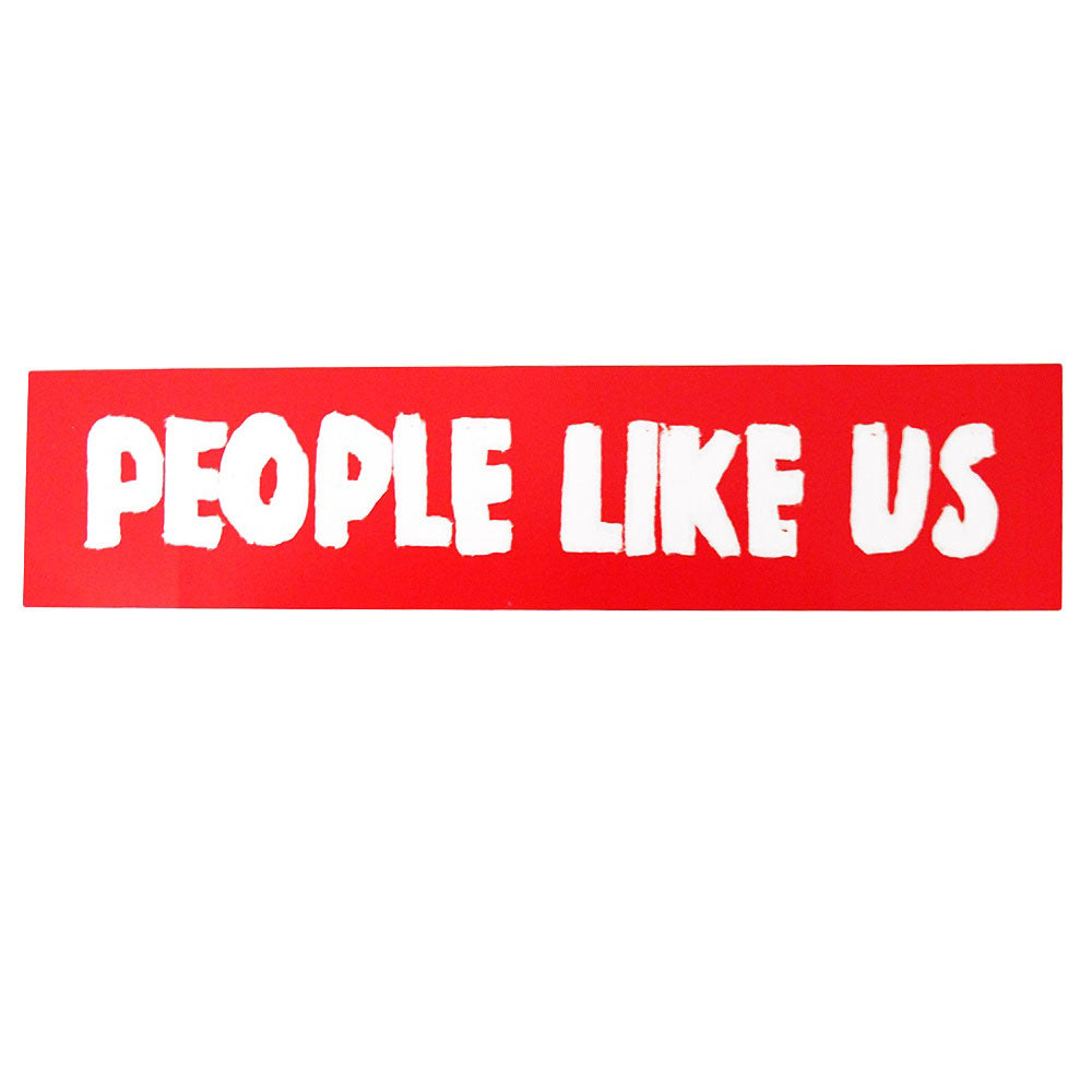 People Like Us Ibiza Autocollant Voiture Rouge